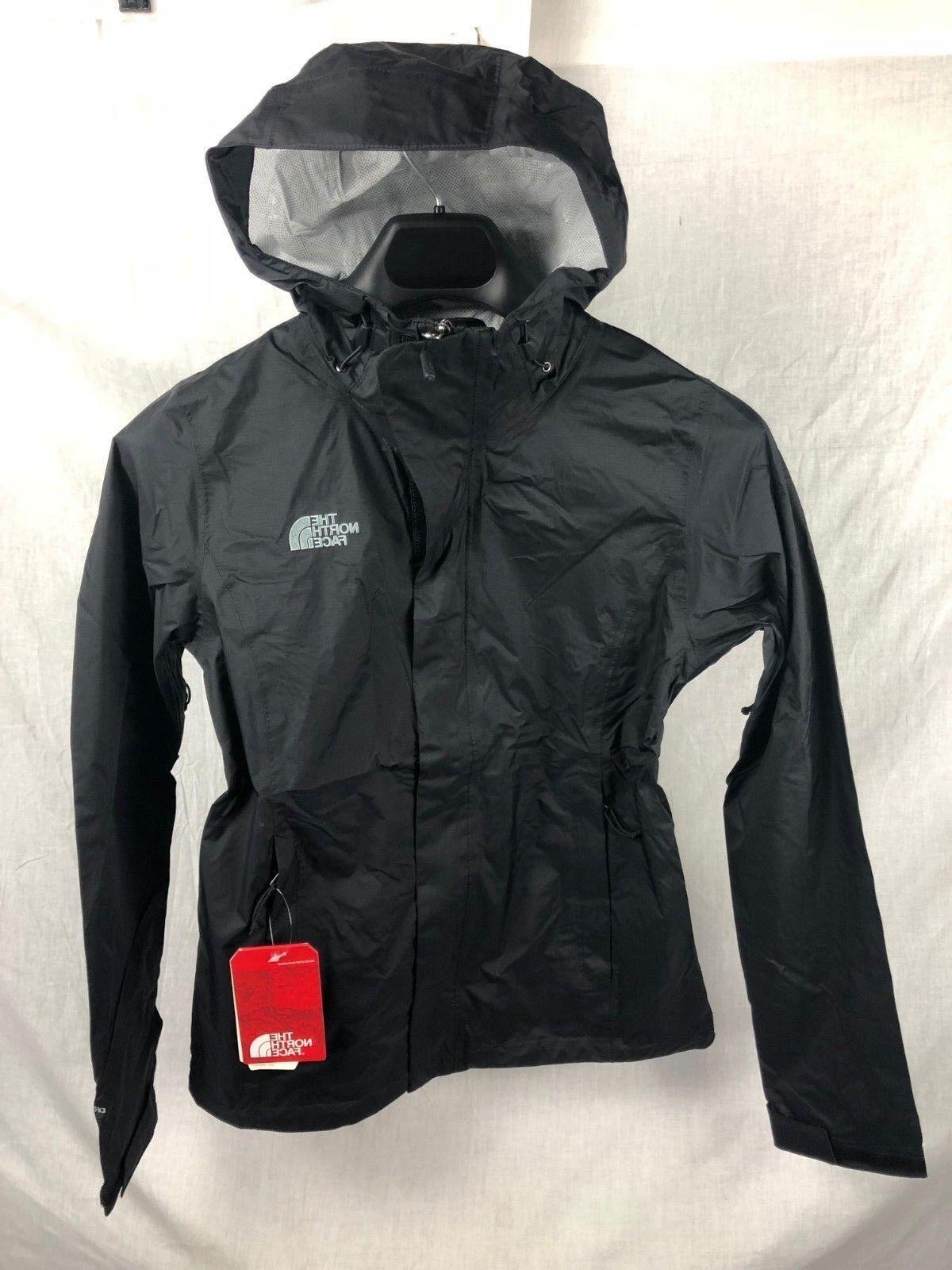 NEW THE NORTH FACE VENTURE JACKET BLACK WOMENS SHELL RAIN FR