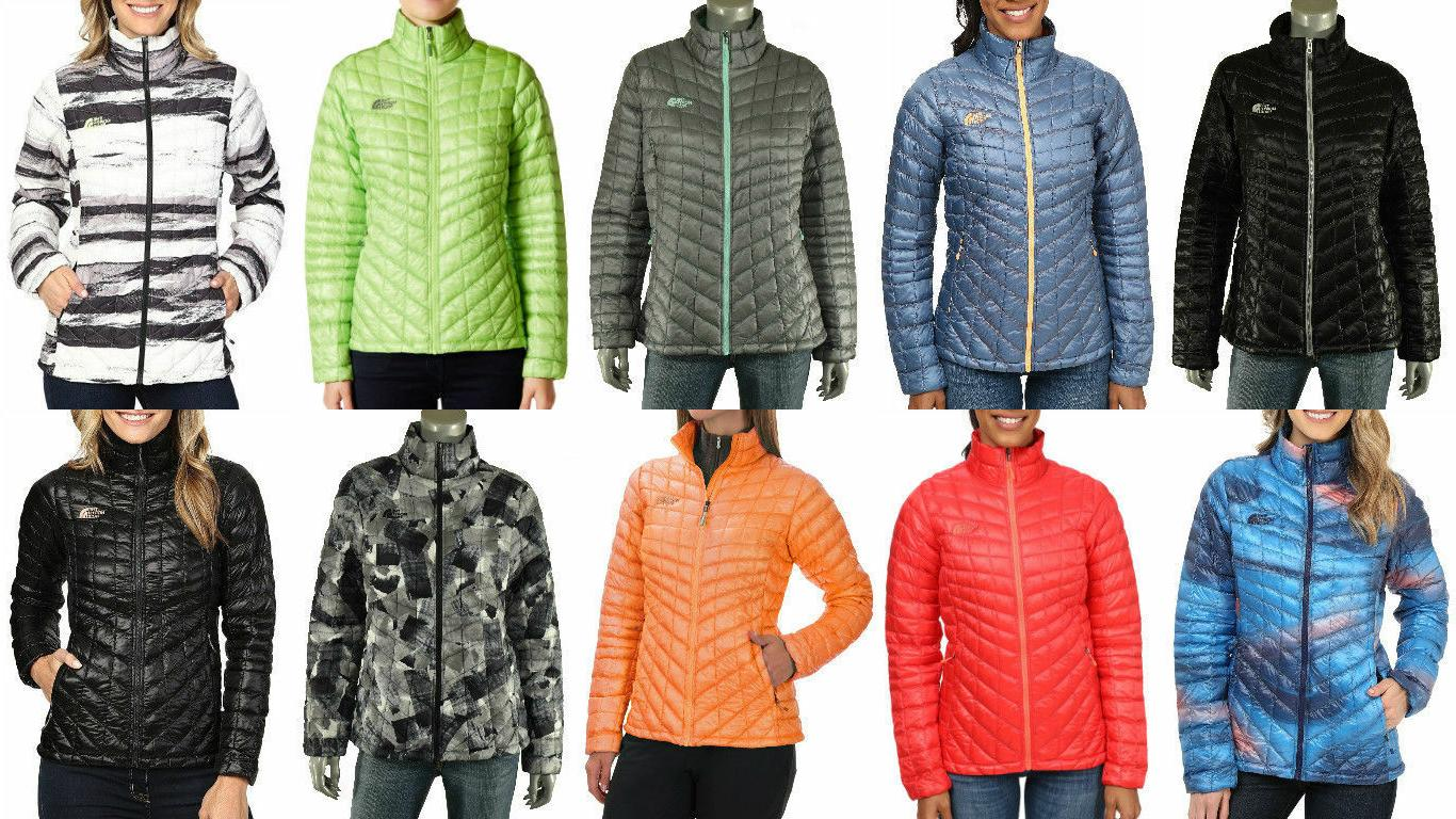 New With Womens North Face Jacket Thermoball Insulated Coat Full