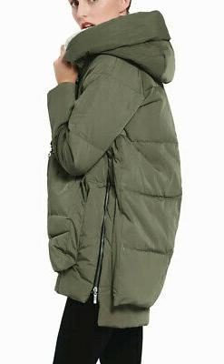 NEW - 'YRF092' Green THICKENED DOWN JACKET -