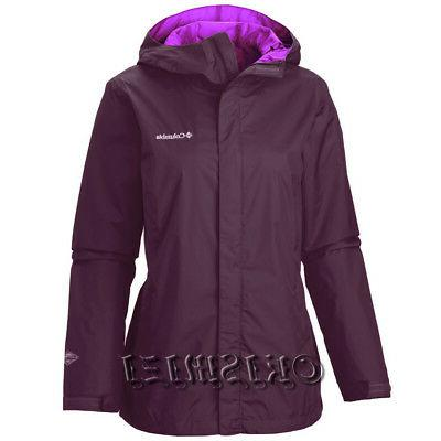 "New Womens Columbia ""Arcadia II"" Omni-Tech Waterproof Rain W"