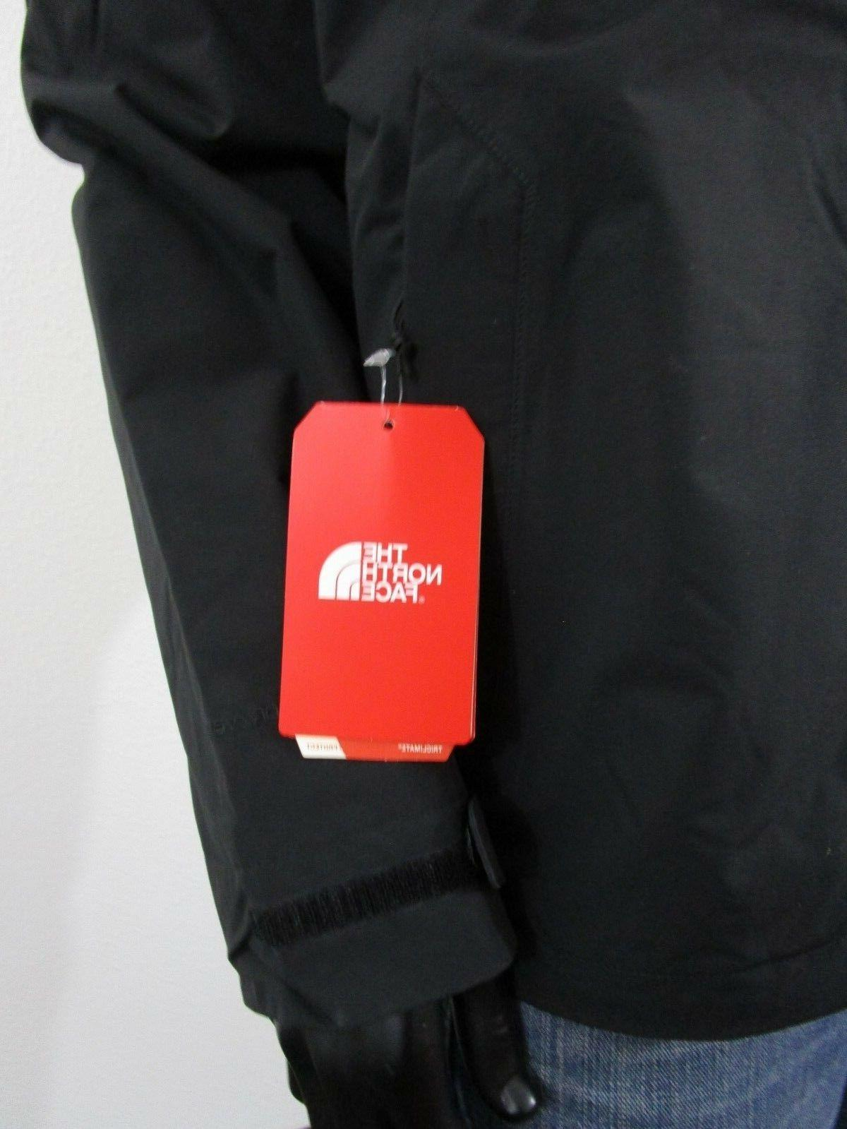 NWT North Face Carto Triclimate Hooded Waterproof Jacket - Black