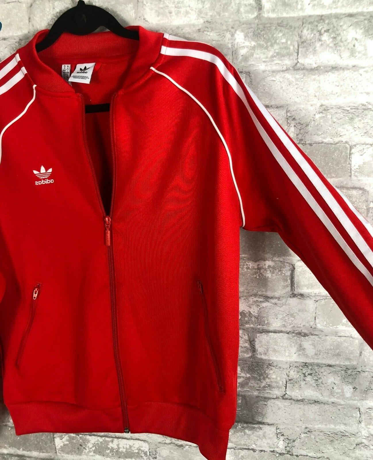 adidas Jacket Red MEDIUM