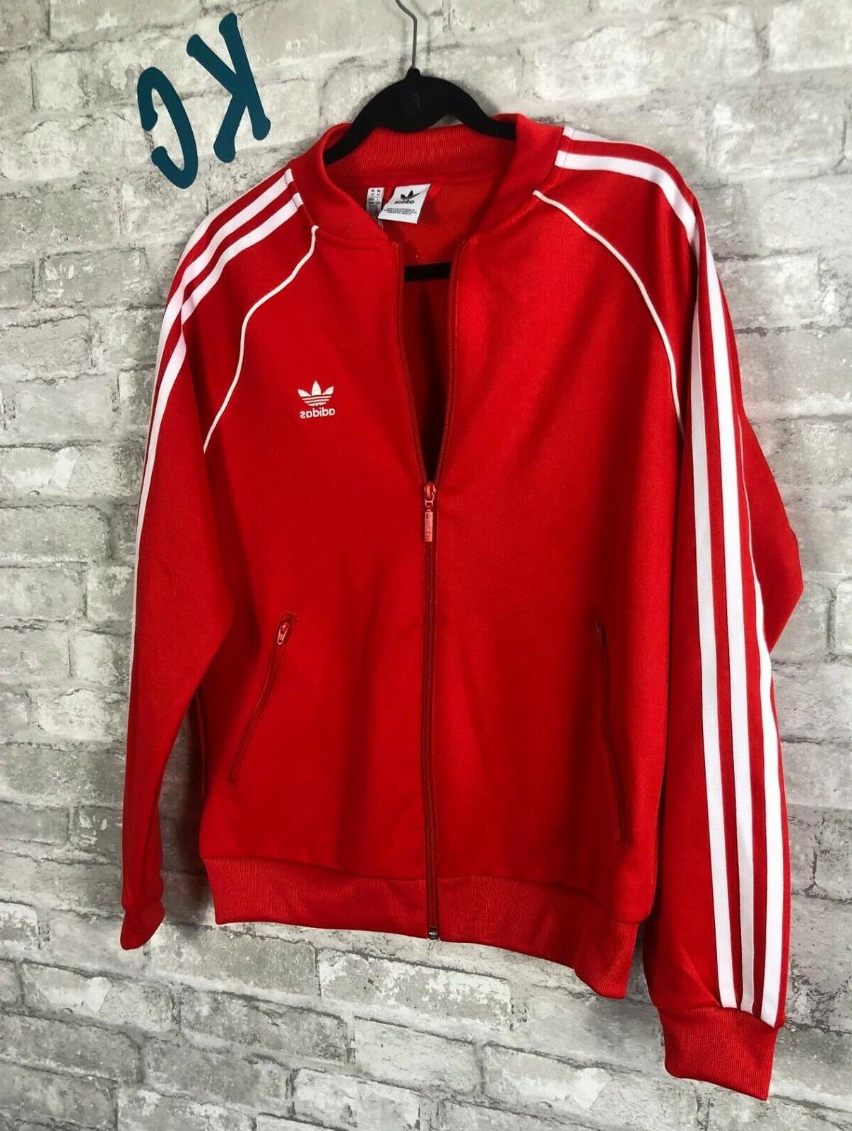 NWT adidas V-Day Jacket Women's Red Size MEDIUM