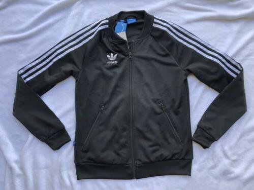NWT adidas Originals Womens Black Track Jacket- Size XS Reta
