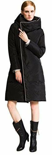 NWT Orolay Women's Black Thickened Long Down Jacket with Hoo