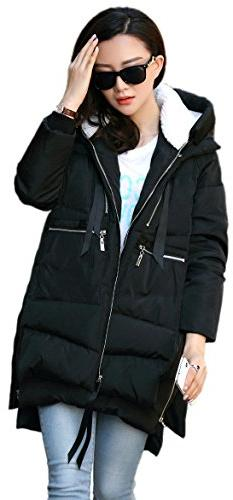 NWT Orolay Women's Thickened Down Jacket Black Size Small