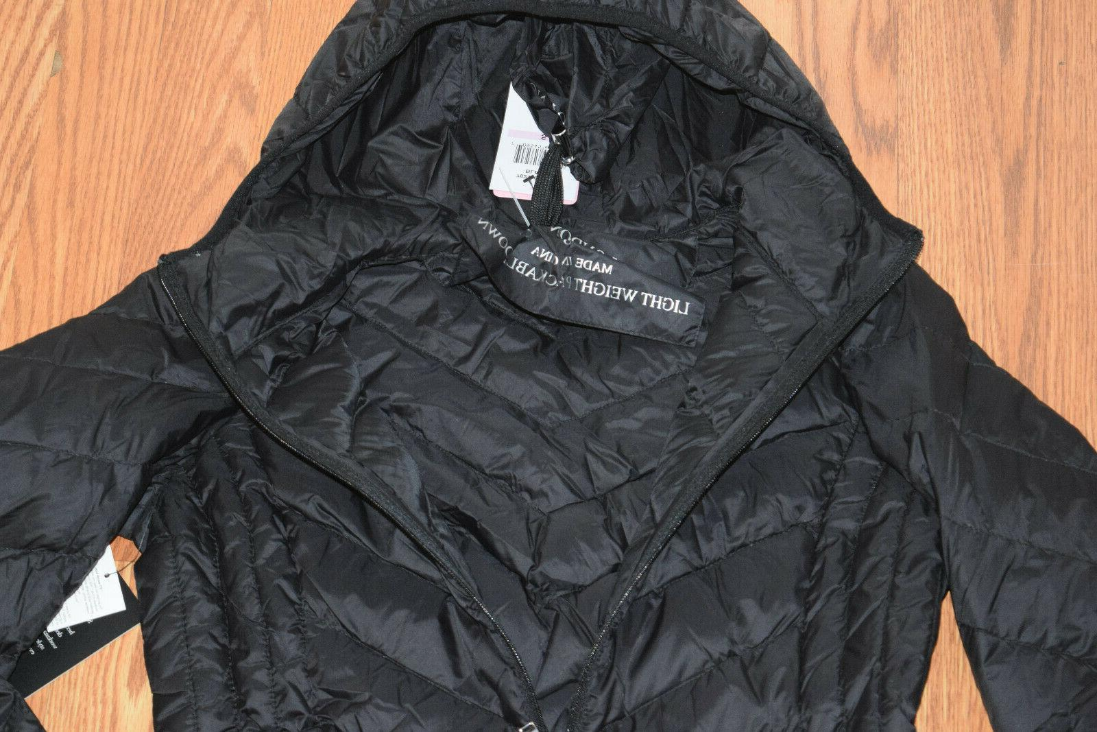 NWT LONDON Black Packable Jacket Small