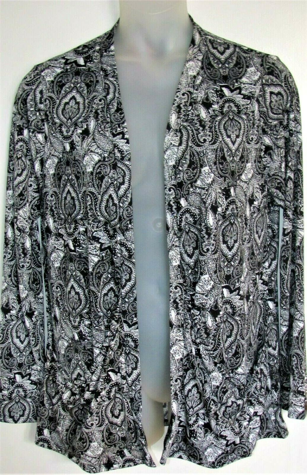 nwt womens career paisley open style cardigan