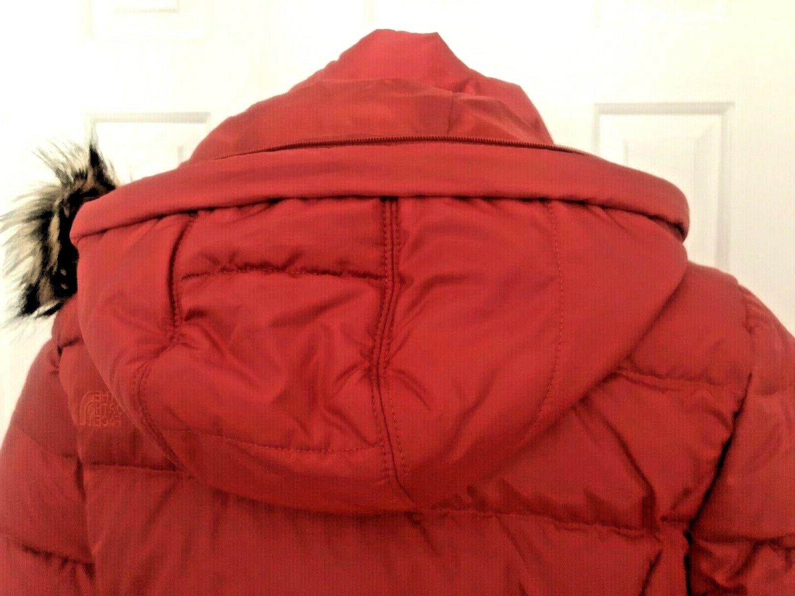 NWT Womens Face Gotham Hooded Down Jacket Insulated Size M