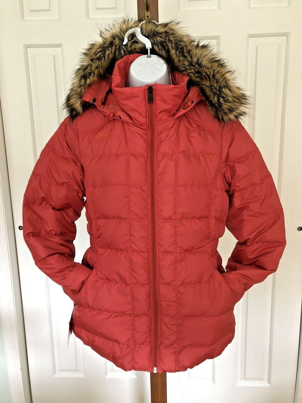 nwt womens north face gotham hooded down