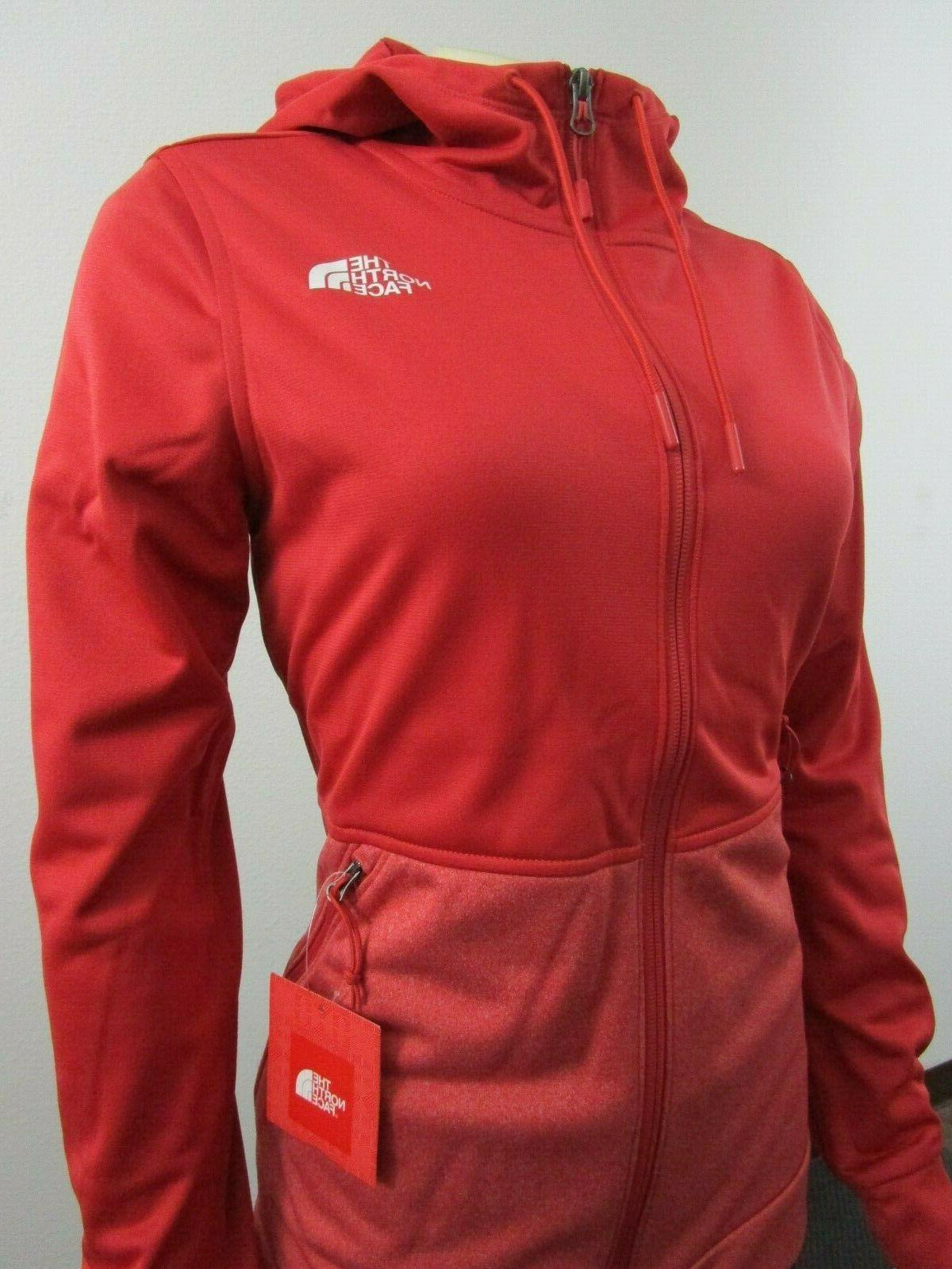 NWT Face TNF 100 Tenacious Hoodie Fleece - Red