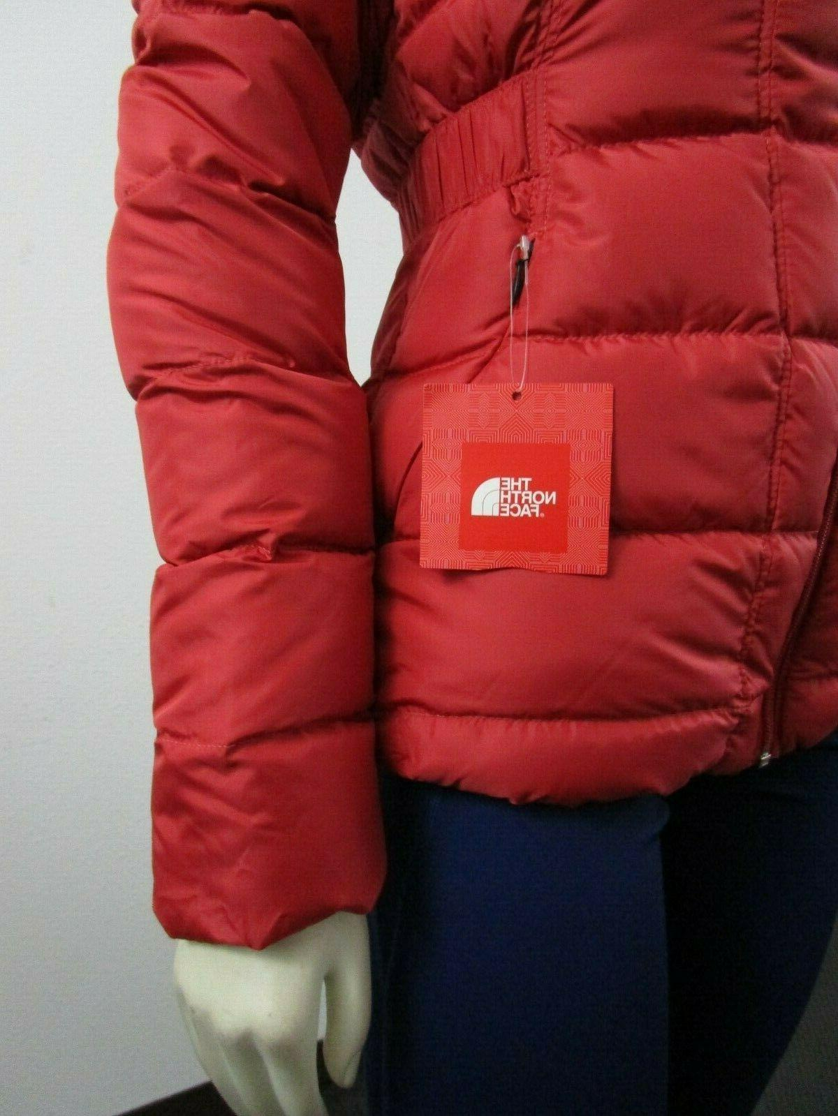 NWT Womens Face Gotham Hooded Down Winter - Red