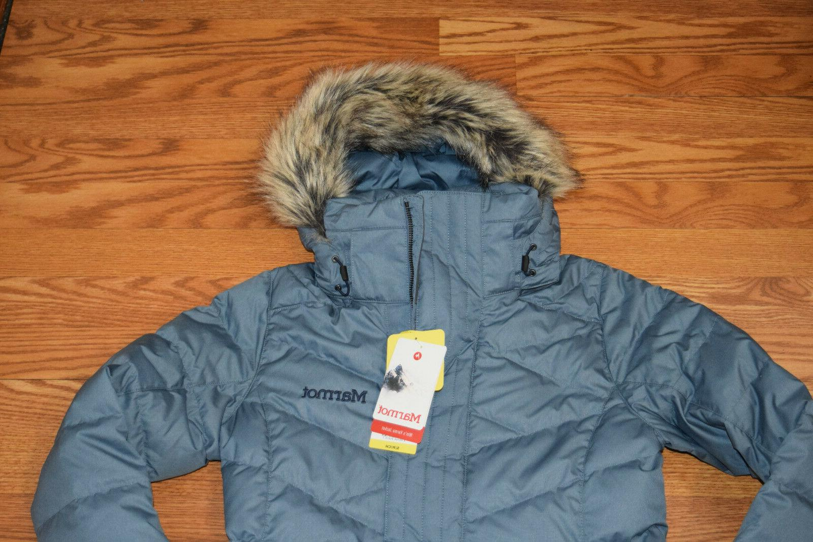 NWT Womens Storm Faux Fur Down Jacket S