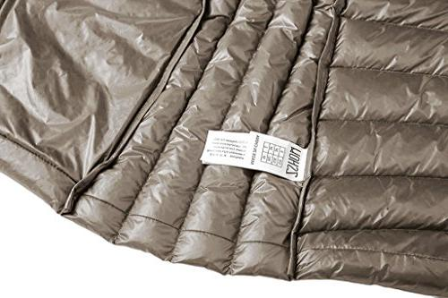 Coat Pillow Down Jackets, US Large, Camel