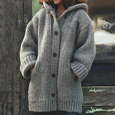 Plus Knitted Cardigans Winter Warm Coat
