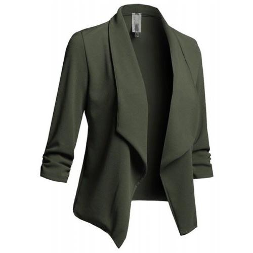 Plus Size Collar Suit 3/4 Sleeve USA