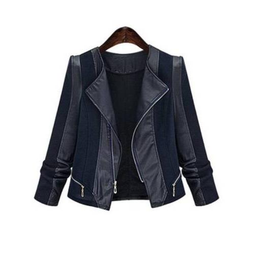 Plus Size Suede Leather Coat Tops USA