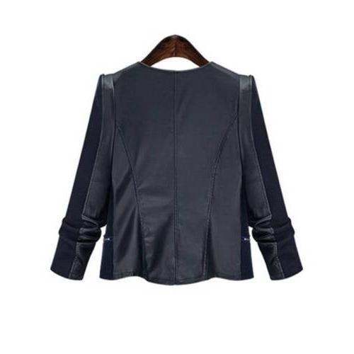 Plus Women's Suede Leather Jacket Coat Tops USA