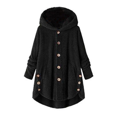 Plus Size Hooded Coat Fur Jacket Cover