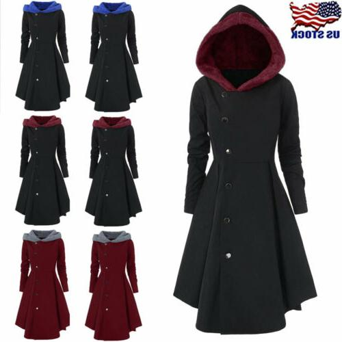 plus size womens winter warm long peacoat