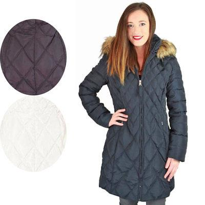 Jessica Quilted Women's Mid-Length Diamond Coat Jacket