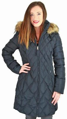 Jessica Quilted Mid-Length Diamond Down Coat