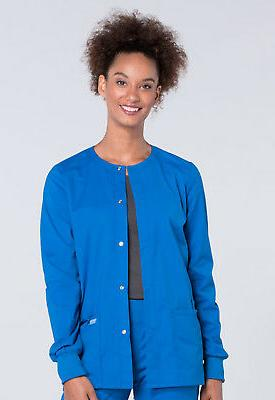 Royal Blue Cherokee Scrubs Workwear Professionals Snap Front