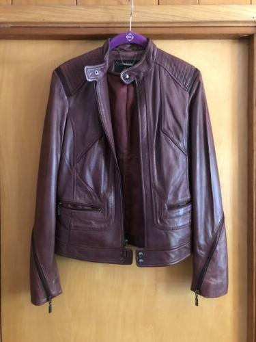 s butter soft maroon purple leather jacket