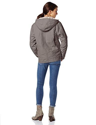 Carhartt Women's Jacket Lined Front Gray, Medium