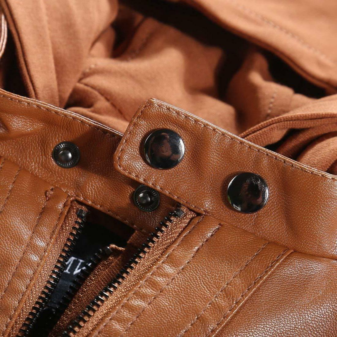 Tanming Removable Faux Leather Jackets