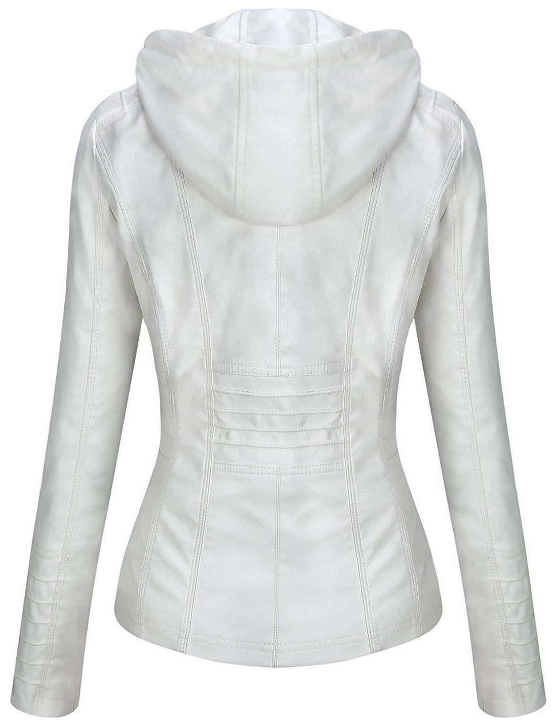 Tanming Women's Removable Hooded Faux