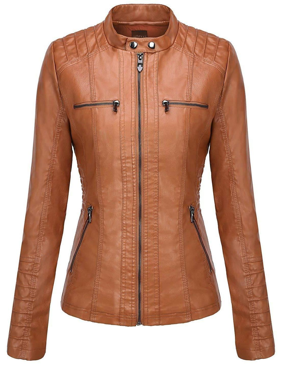 Tanming Women's Removable Faux Leather