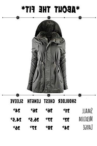 TOP LEGGING Militray Anorak jackets with Drawstring