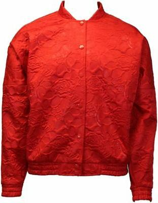 track jacket red womens