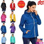 US Women Rain Coat Hoodies Jogging Hiking Waterproof Jacket
