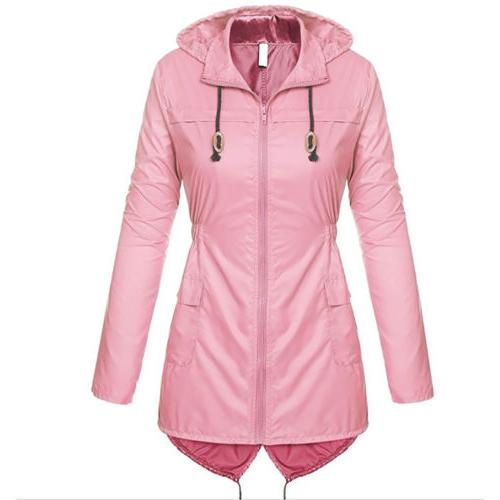 US Womens Hooded Ladies Waterproof Jacket Parka Hoodies