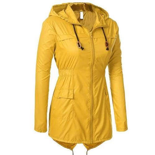 US Womens Hooded Ladies Waterproof Jacket Parka Fishtail