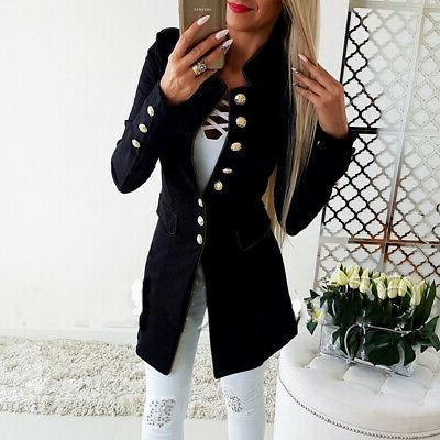 Vintage Women Casual Long Jacket Outwear