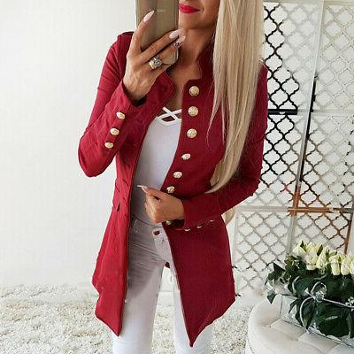 Vintage Women Casual Slim Long Jacket Outwear