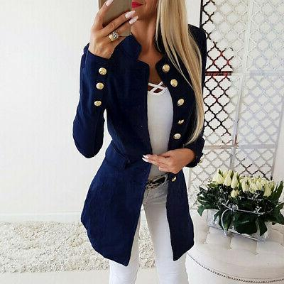 Vintage Women OL Slim Long Jacket Outwear