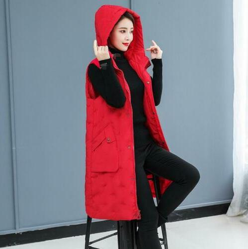 Winter Womens Jacket Hooded Quilted