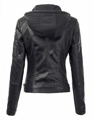 Made By Johnny Womens Faux Motorcycle with