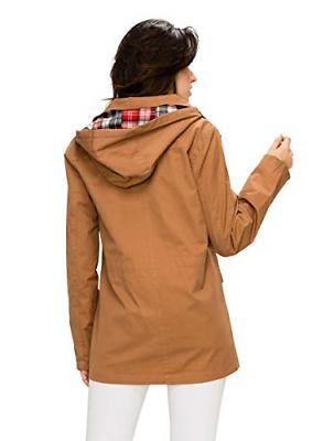 Lock and Love WJC1862 Womens Safari Jacket with Camel