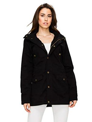 Lock and Love LL WJC1862 Womens Casual Safari Anorak Jacket