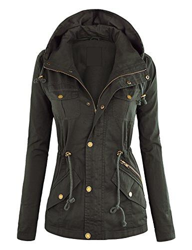 wjc643 womens pop of color parka jacket