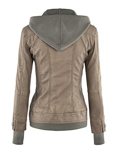 WJC664 Leather Jacket Khaki