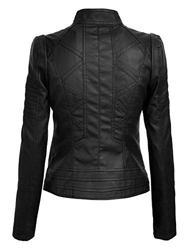 Made By Johnny Womens Leather Motorcycle Jacket