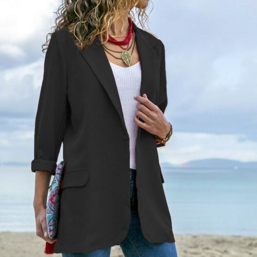 Women Elegant Casual Business Blazer Suit Jacket