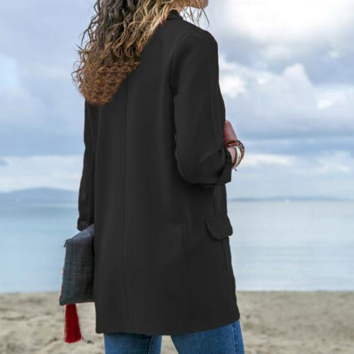Women Elegant Fashion Slim Casual Business Suit Jacket Coat S-XL