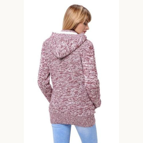 Sidefeel Cardigans Button Cable Coat Large Grey
